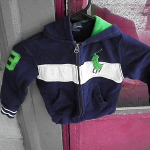 Polo by Ralph Lauren blue white and green size3/3t